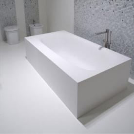 antoniolupi SARTO freistehende Rechteck-Badewanne Ablaufgarnitur chrom