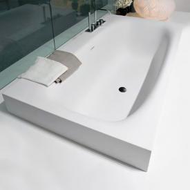 antoniolupi SARTO Halbeinbau Badewanne Ablaufgarnitur schwarz chrom gebürstet