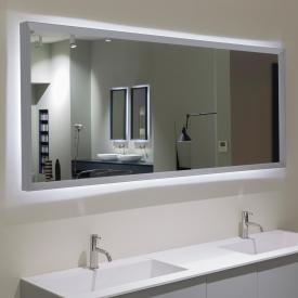 antoniolupi SFOGLIA Spiegel mit LED-Beleuchtung weiß matt/verspiegelt