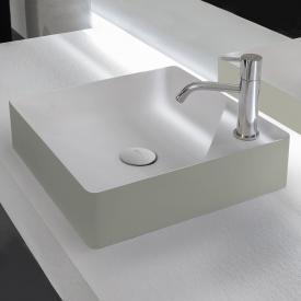 antoniolupi SIMPLO Aufsatzwaschtisch cemento matt/weiß matt, mit 1 Hahnloch