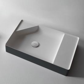 antoniolupi SIMPLO Wandwaschtisch matita matt/weiß matt, ohne Hahnloch, ohne Überlauf