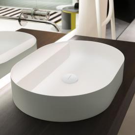 antoniolupi SIMPLOVALE Aufsatzwaschtisch cemento matt/weiß matt, ohne Hahnloch, ohne Überlauf
