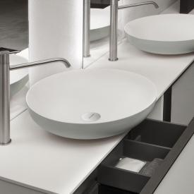 antoniolupi VERSO  Aufsatzwaschtisch cemento matt/weiß matt