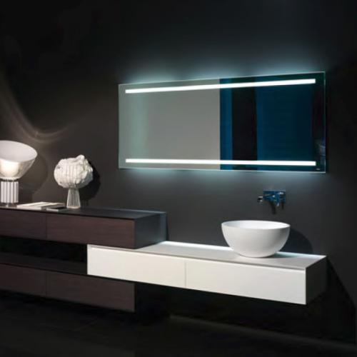 antoniolupi spio175w rechteckiger spiegel mit led beleuchtung spio175w72 reuter. Black Bedroom Furniture Sets. Home Design Ideas