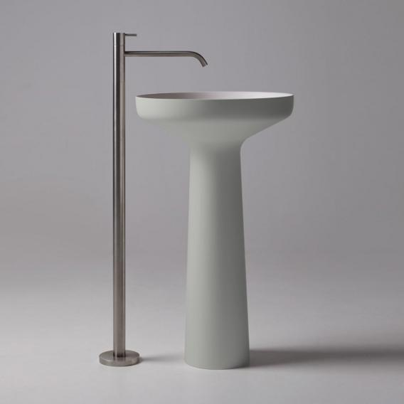 antoniolupi AGO bodenstehender Waschtisch cemento matt/weiß matt, Ablaufventil weiß matt