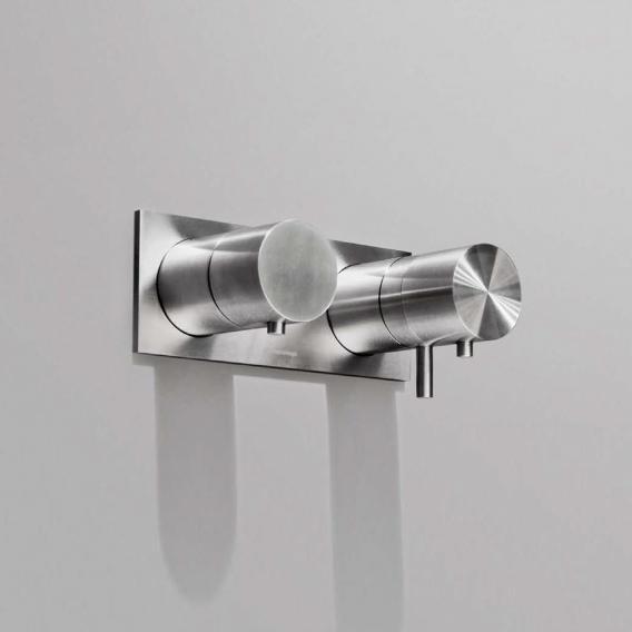antoniolupi AYATI Unterputz-Thermostat-Duschbatterie mit Umsteller und Abdeckplatte edelstahl satiniert