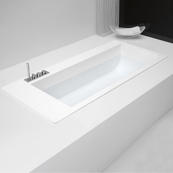 antoniolupi BIBLIO Rechteck-Badewanne mit 2 Armaturenrändern