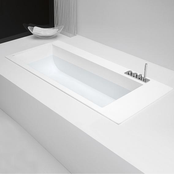 antoniolupi BIBLIO Rechteck-Einbau-Badewanne mit seitlichem Armaturenrand Version rechts
