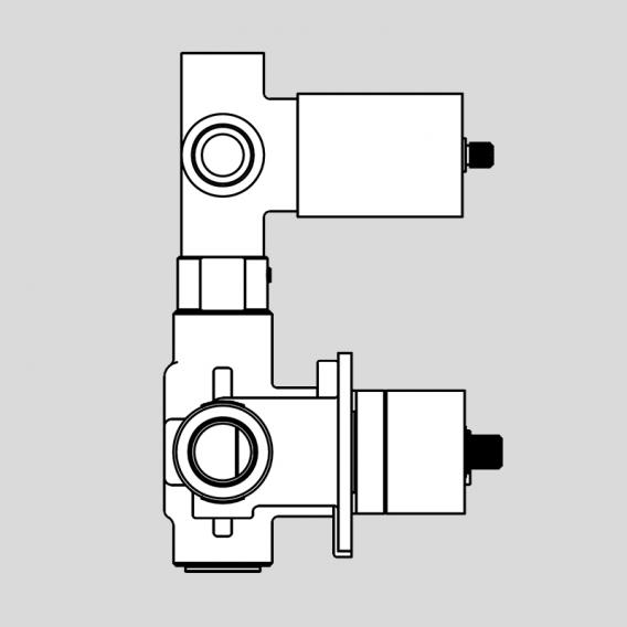 antoniolupi BIKAPPA Unterputz-Grundkörper für Thermostat mit 3-Wege-Umsteller chrom