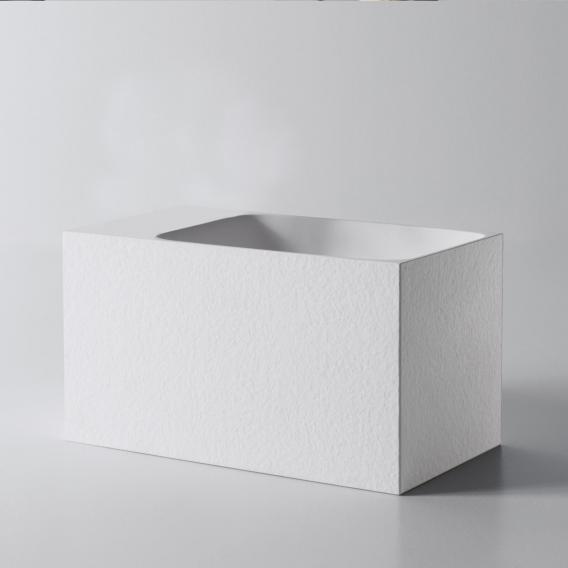 antoniolupi CALCO Handwaschbecken weiß struktur, ohne Hahnloch, ohne Überlauf