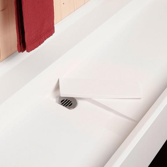 antoniolupi CANALE Wandwaschtisch weiß matt, ohne Hahnloch, ohne Überlauf