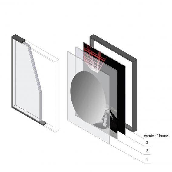 antoniolupi COLLAGE 3-Schicht-Spiegel