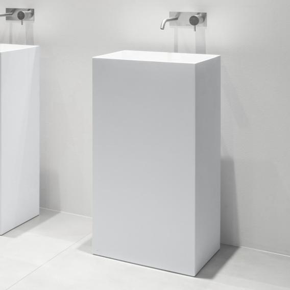 antoniolupi FUSTO bodenstehender Waschtisch weiß matt, ohne Handttuchhalter, Ablaufventil weiß matt