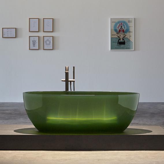 antoniolupi REFLEX Freistehende Oval-Badewanne bottiglia, Ablaufgarnitur chrom