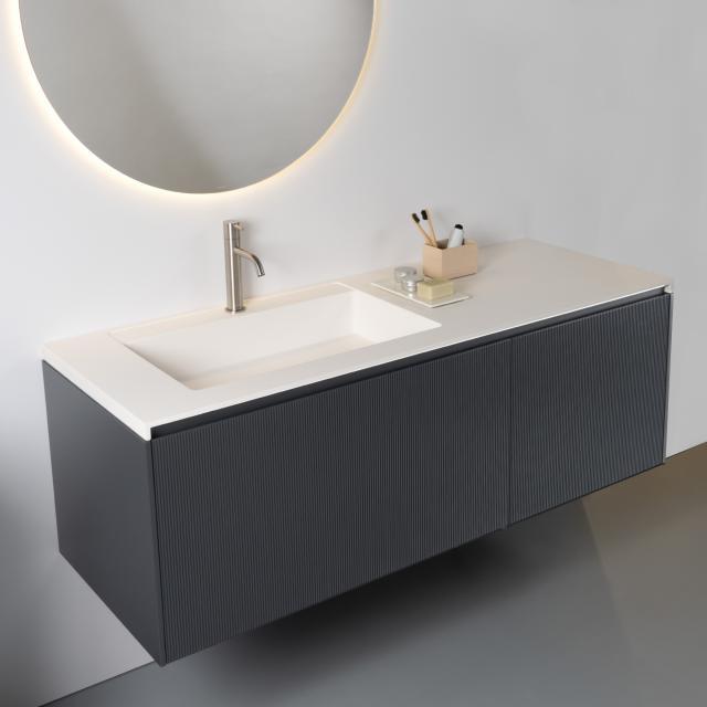antoniolupi BASICO Top mit BINARIO 03 Waschtischunterschrank mit 2 Auszügen