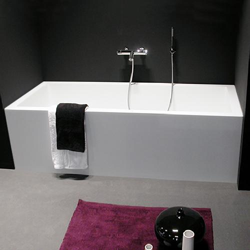 antoniolupi BIBLIO Rechteck-Badewanne mit 2-seitiger Verkleidung