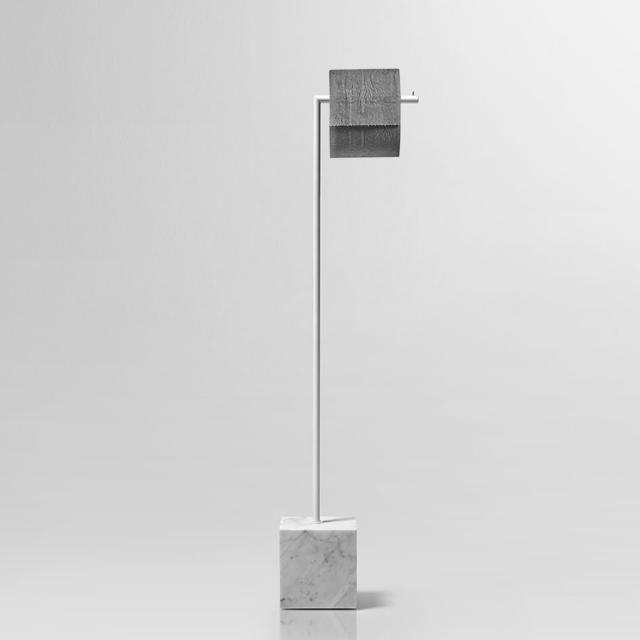 antoniolupi BIVIO Toilettenpapierhalter carrara/weiß matt