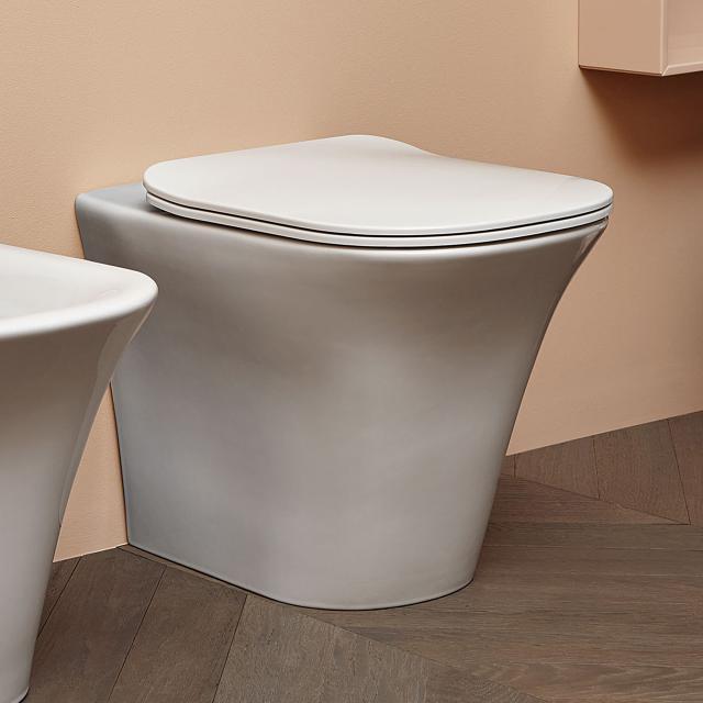 antoniolupi CABO Stand-Tiefspül-WC mit WC-Sitz Flat weiß matt