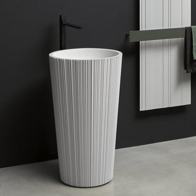antoniolupi PLISSÉ bodenstehender Waschtisch weiß matt