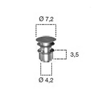 antoniolupi US21 Ablaufgarnitur mit Clik-Clak-System edelstahl satiniert
