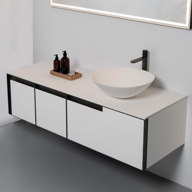 antoniolupi VELO Waschtisch mit ATELIER Waschtischunterschrank mit 3 Auszügen
