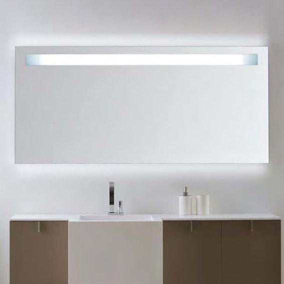 badspiegel 50x70cm spiegel eckig mit energiesparender led beleuchtung kaltwei ip44. Black Bedroom Furniture Sets. Home Design Ideas
