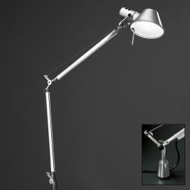 Artemide Tolomeo LED TW Tischleuchte mit Schraubbefestigung und Dimmer