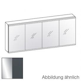 Artiqua Dimension 112 LED-Spiegelschrank Front verspiegelt / Korpus anthrazit glanz