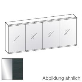 Artiqua Dimension 112 LED-Spiegelschrank Front verspiegelt / Korpus hacienda schwarz