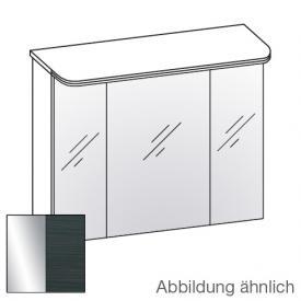 Artiqua Dimension 112 LED-Spiegelschrank mit 3 Türen Front verspiegelt / Korpus hacienda schwarz