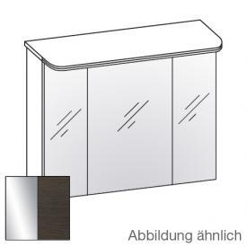 Artiqua Dimension 112 LED-Spiegelschrank mit 3 Türen Front verspiegelt / Korpus mokka struktur