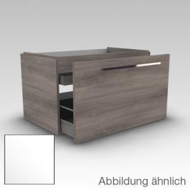 Artiqua 112 Waschtischunterschrank mit 1 Innenschubkasten Front weiß hochglanz / Korpus weiß glanz