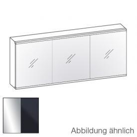Artiqua 211 LED Spiegelschrank mit 3 Türen Front verspiegelt / Korpus anthrazit glanz