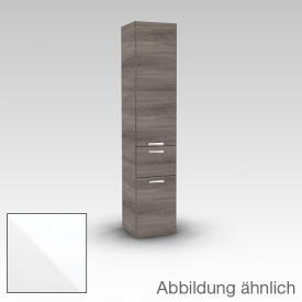 Artiqua 400 Hochschrank mit 2 Türen und 1 Auszug Front weiß hochglanz / Korpus weiß glanz