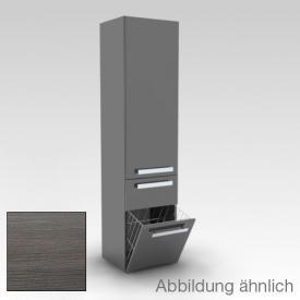 Artiqua 400 Hochschrank, 1 Türen graphit struktur