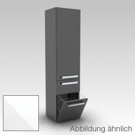 Artiqua 400 Hochschrank, 1 Türen weiß glanz