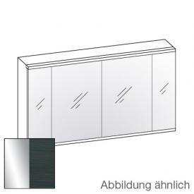 Artiqua 400 LED Spiegelschrank B: 126,5 H: 73 T: 16 cm, 4 Türen Front verspiegelt / Korpus hacienda schwarz