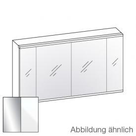 Artiqua 400 LED Spiegelschrank B: 126,5 H: 73 T: 16 cm, 4 Türen Front verspiegelt / Korpus weiß glanz