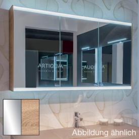 Artiqua 400 LED-Spiegelschrank B: 128,5 H: 73 T: 16 cm Front verspiegelt / Korpus castello eiche