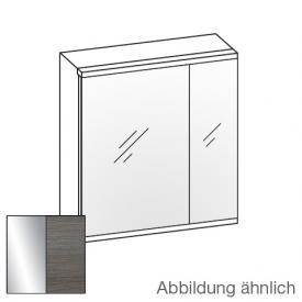 Artiqua Universal LED Spiegelschrank mit 2 Türen Front verspiegelt / Korpus graphit struktur