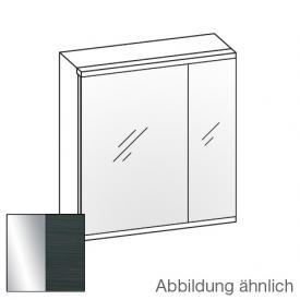 Artiqua Universal LED Spiegelschrank mit 2 Türen Front verspiegelt / Korpus hacienda schwarz