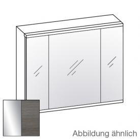 Artiqua LED Spiegelschrank mit 3 Türen Front verspiegelt / Korpus graphit struktur