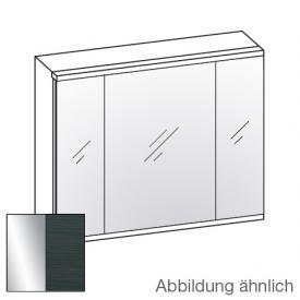 Artiqua 400 LED Spiegelschrank B: 84 H: 73 T: 16 cm, 3 Türen Front verspiegelt / Korpus hacienda schwarz