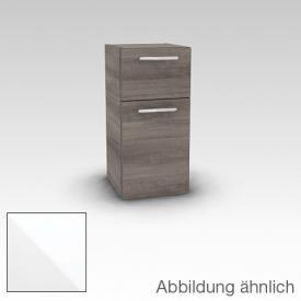 Artiqua 400 Midischrank mit 1 Tür Front weiß hochglanz / Korpus weiß glanz