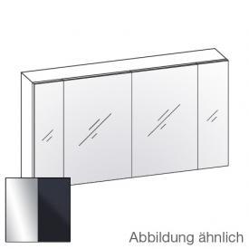 Artiqua 400 Spiegelschrank B: 130 H: 70 T: 16 cm, 4 Türen Front verspiegelt / Korpus anthrazit glanz