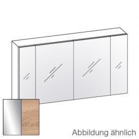 Artiqua 400 Spiegelschrank B: 130 H: 70 T: 16 cm, 4 Türen Front verspiegelt / Korpus castello eiche