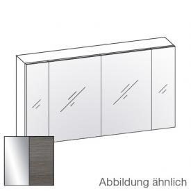 Artiqua 400 Spiegelschrank mit 4 Türen Front verspiegelt / Korpus graphit struktur