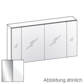 Artiqua 400 Spiegelschrank B: 130 H: 70 T: 16 cm, 4 Türen Front verspiegelt / Korpus weiß glanz
