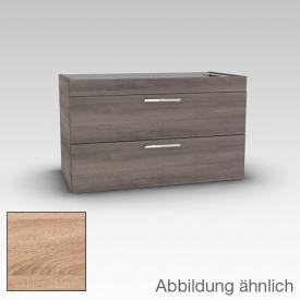 Artiqua 411 Waschtischunterschrank mit 2 Auszügen Front castello eiche / Korpus castello eiche