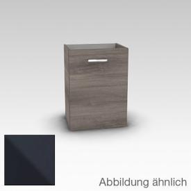 Artiqua 411 Waschtischunterschrank mit 1 Tür Front anthrazit glanz / Korpus anthrazit glanz